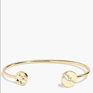 NWT J Crew Zodiac Cuff Bracelet